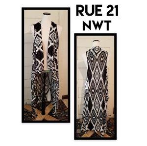 NWT Rue 21 Open Drape Sweater Cardigan